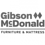 Gibson McDonald Furniture and Mattress logo.